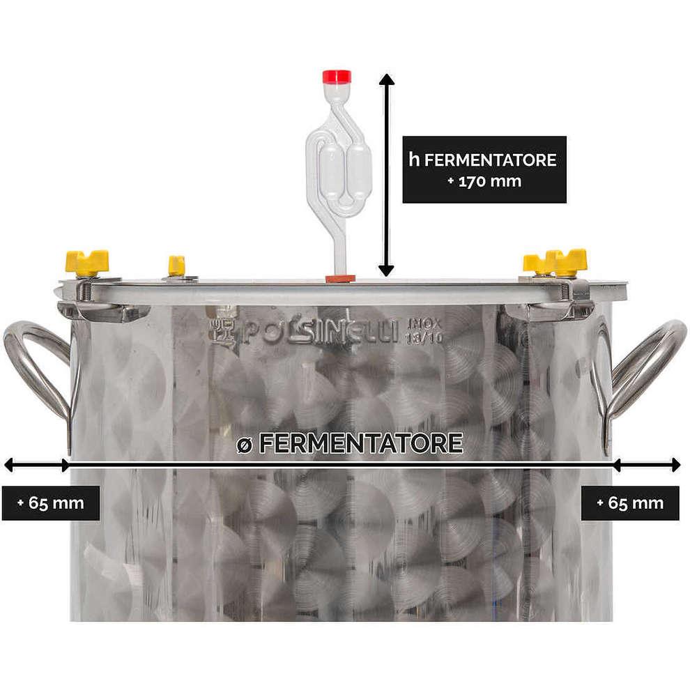 Fermentatore per birra inox 380 L