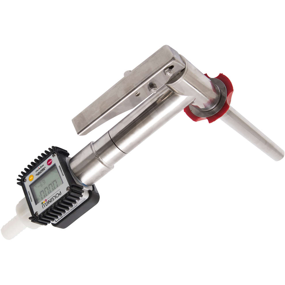 Filling gun with flowmeter