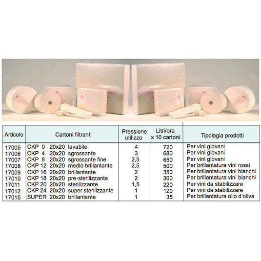 Filter sheets V24