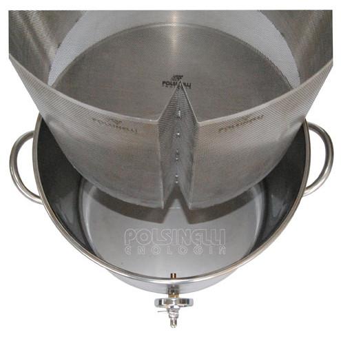 Filtre à panier pour drêches inox ⌀340