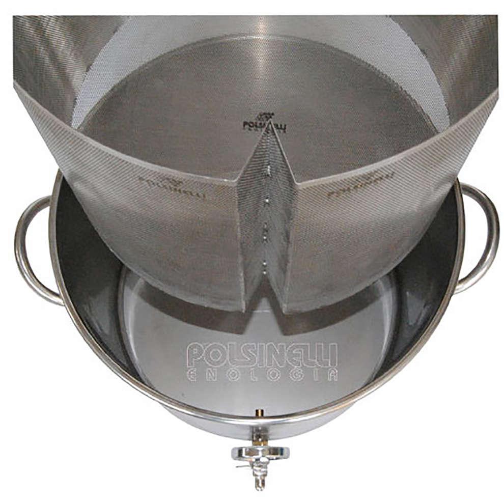 Filtre à panier pour drêches inox 75 ⌀427