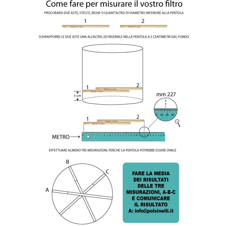 Filtro inox para sedimentos ⌀ 368