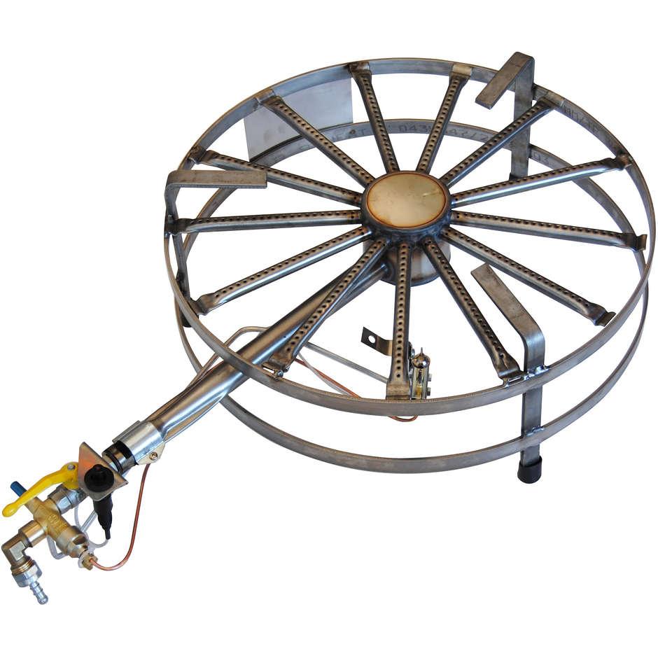 Fornellone a gas inox  8 kW ⌀40 PSPEV metano