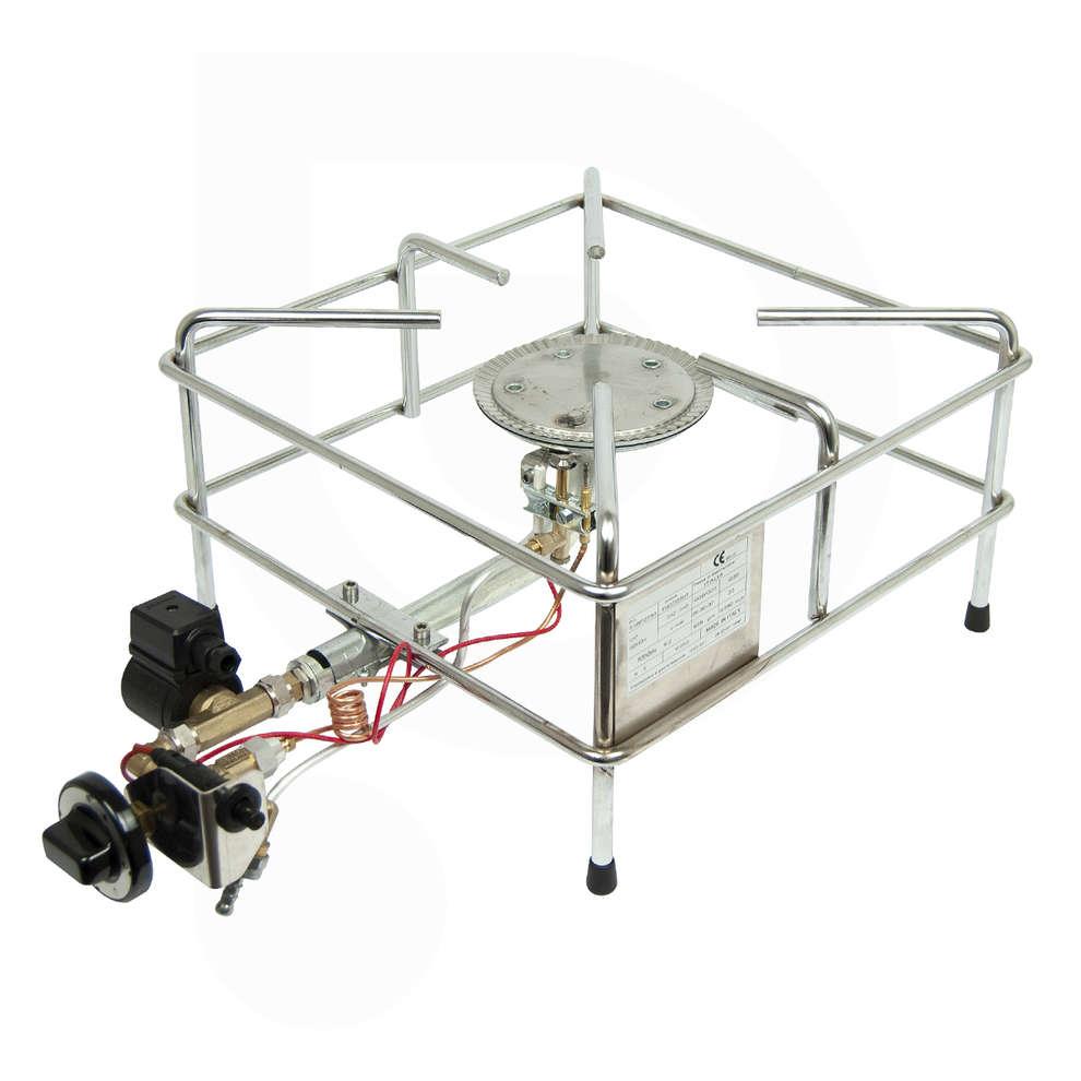 Fornellone gas cromo kw 9.2 PSPEV 24V GPL/METANO