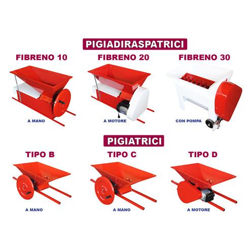 Fouloir-égrappoir électrique Fibreno 20