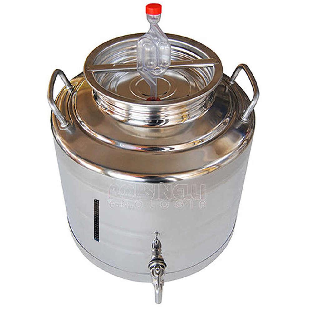 Fusto fermentatore inox 30 L