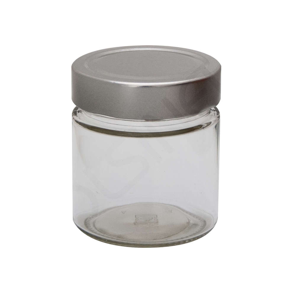 Glass jar ERGO 212 ml ∅ 70 with high Cap (24 pieces)