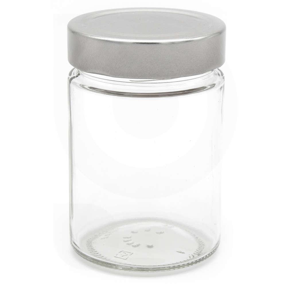 Glass jar ERGO 314 ml ∅ 70 with high Cap (24 pieces)