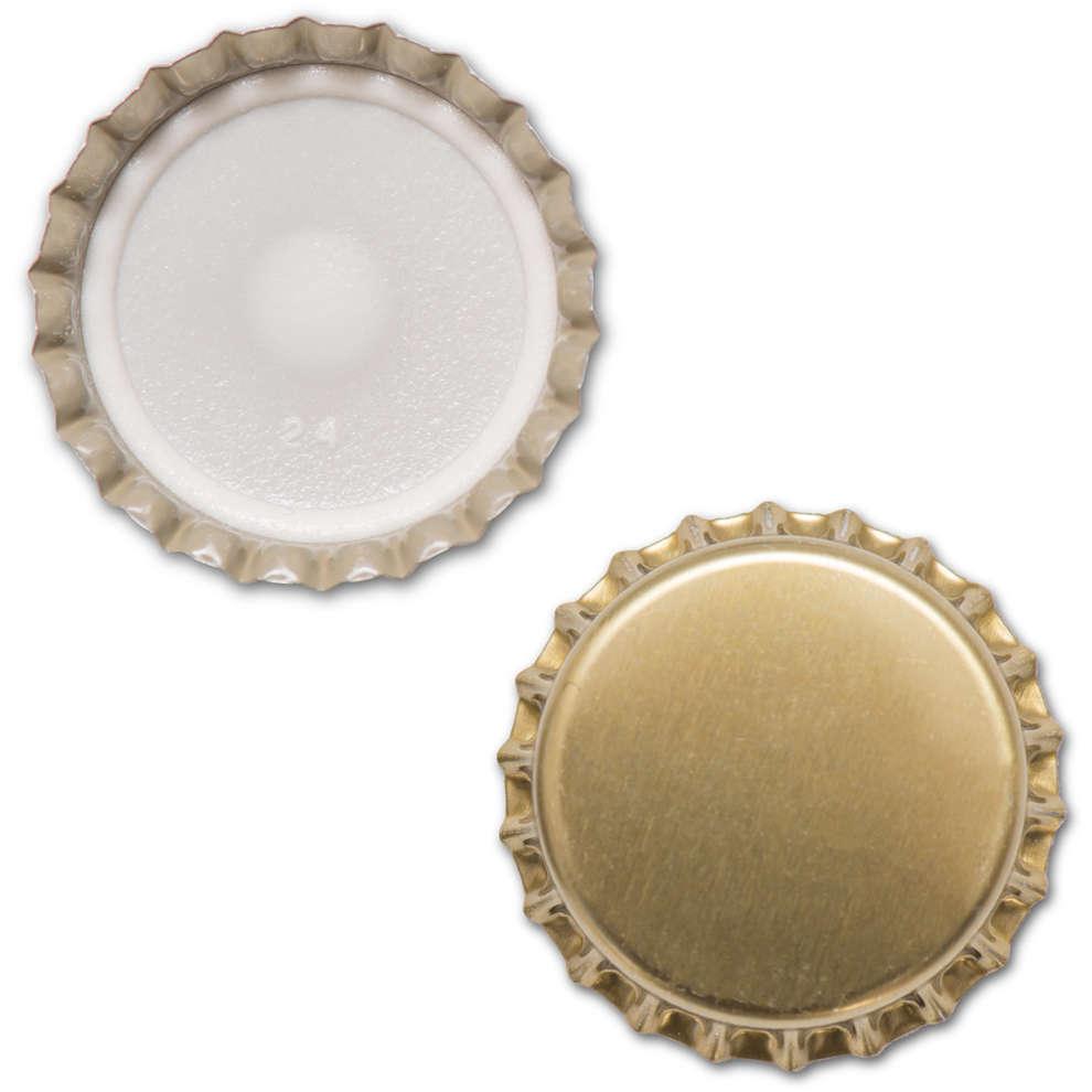 Golden crown cap ⌀26 (100 pcs)