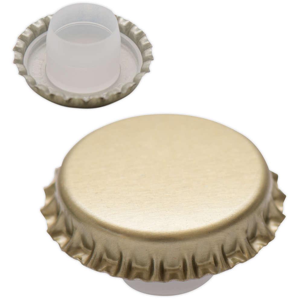 Golden crown cap with bidule ⌀29 (200 pcs)