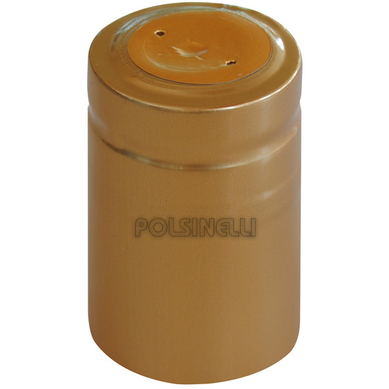 Golden PVC capsule ⌀33 (100 pcs)