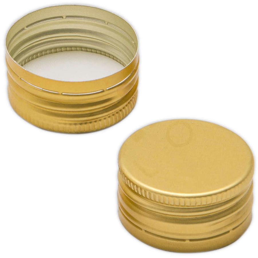 Golden screw cap pre-threaded ⌀18 (100 pcs)