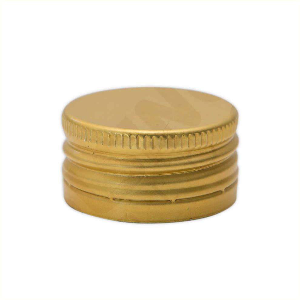 Golden screw cap pre-threaded ⌀24 (100 pcs)