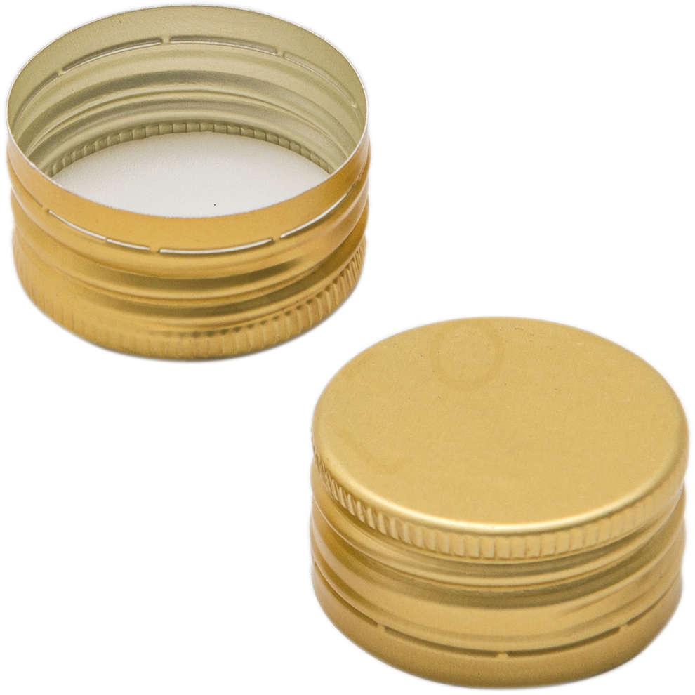 Golden screw cap pre-threaded ⌀31.5 (100 pcs)