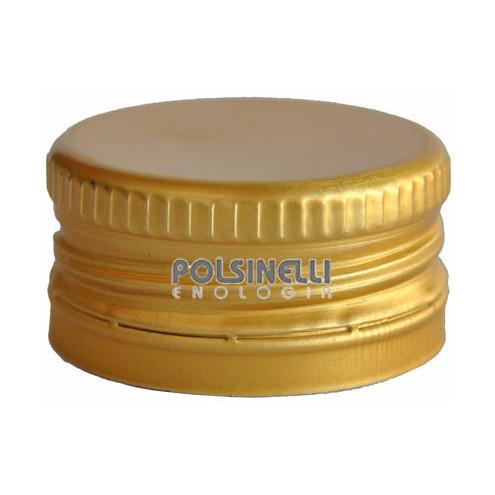 Golden screw cap pre-threaded ⌀35 (100 pcs)
