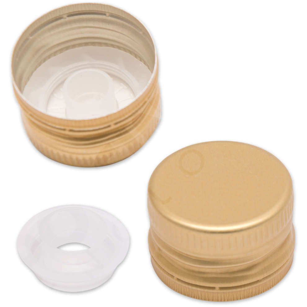 Golden screw cap with drip catcher ⌀31.5 (100 pcs)