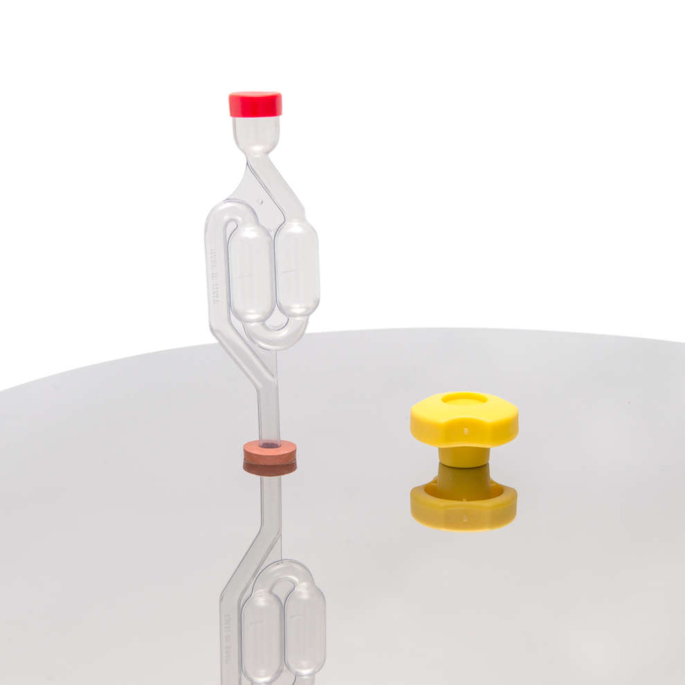 Gorgogliatore minifermentatore a 2 bolle