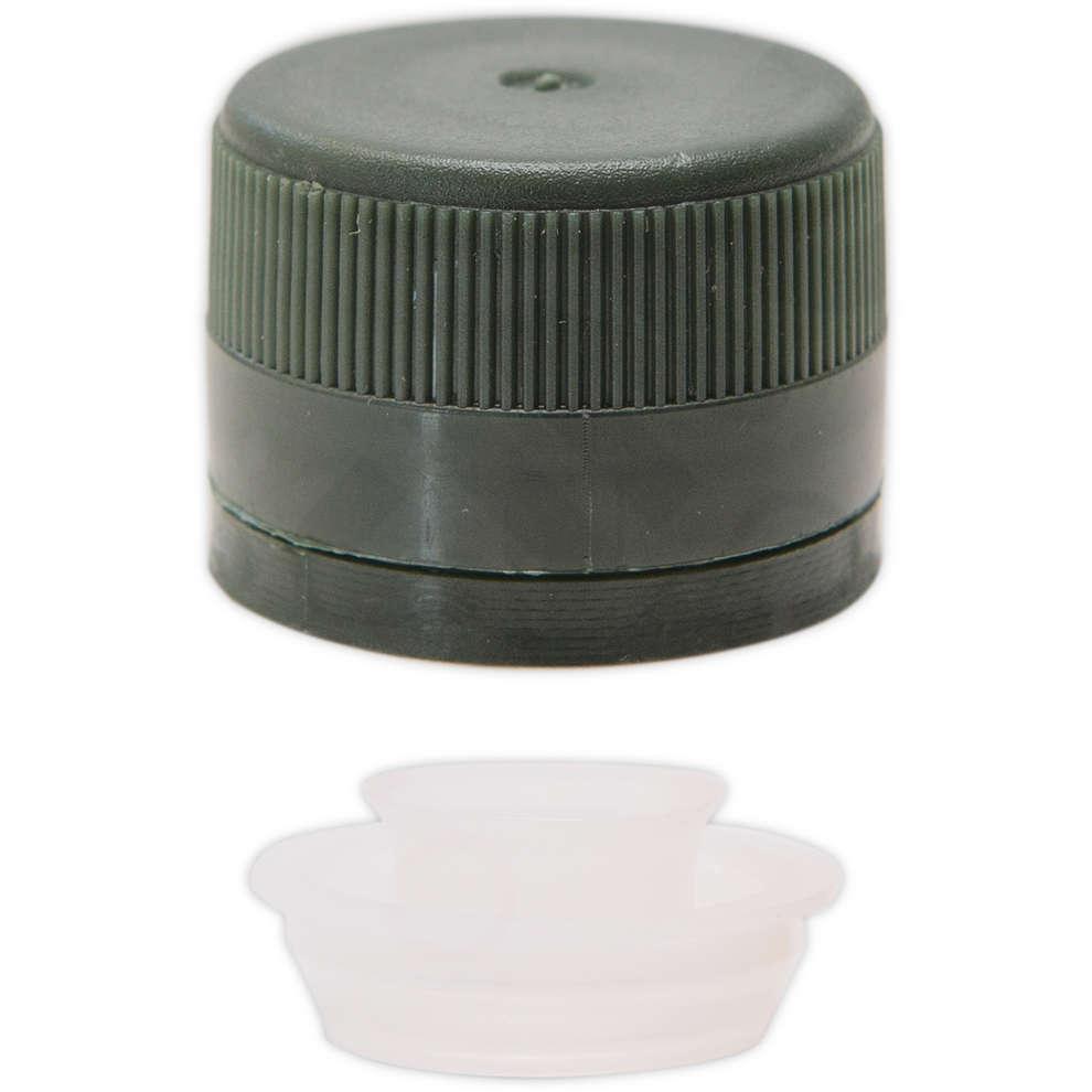 Grünen Kunststoff-Schraubverschluss mit Tropfschutz ⌀31,5 (100 St)