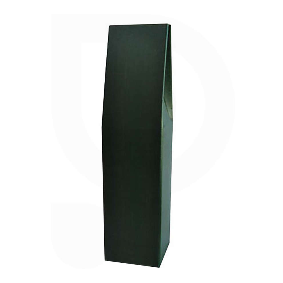 Green carry wine box for 1 bottle (10 pieces)