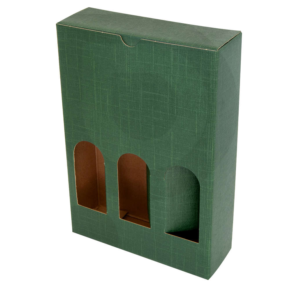Green carry wine box Petit for 3 bottles - 240h (10 pieces)
