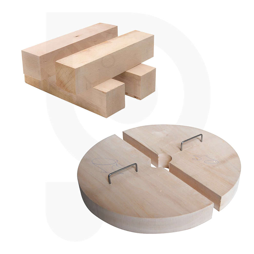 Half discs and wooden pieces kit for press 35