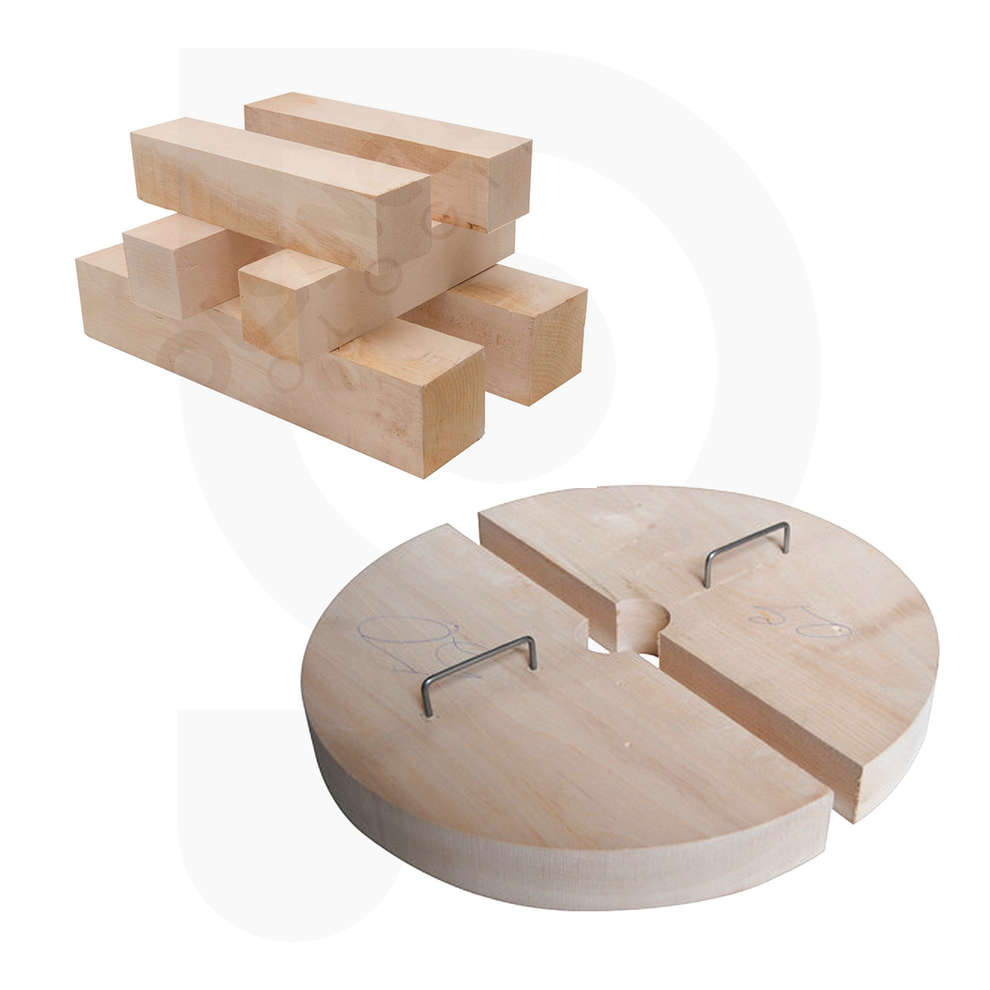 Half discs and wooden pieces kit for press 55
