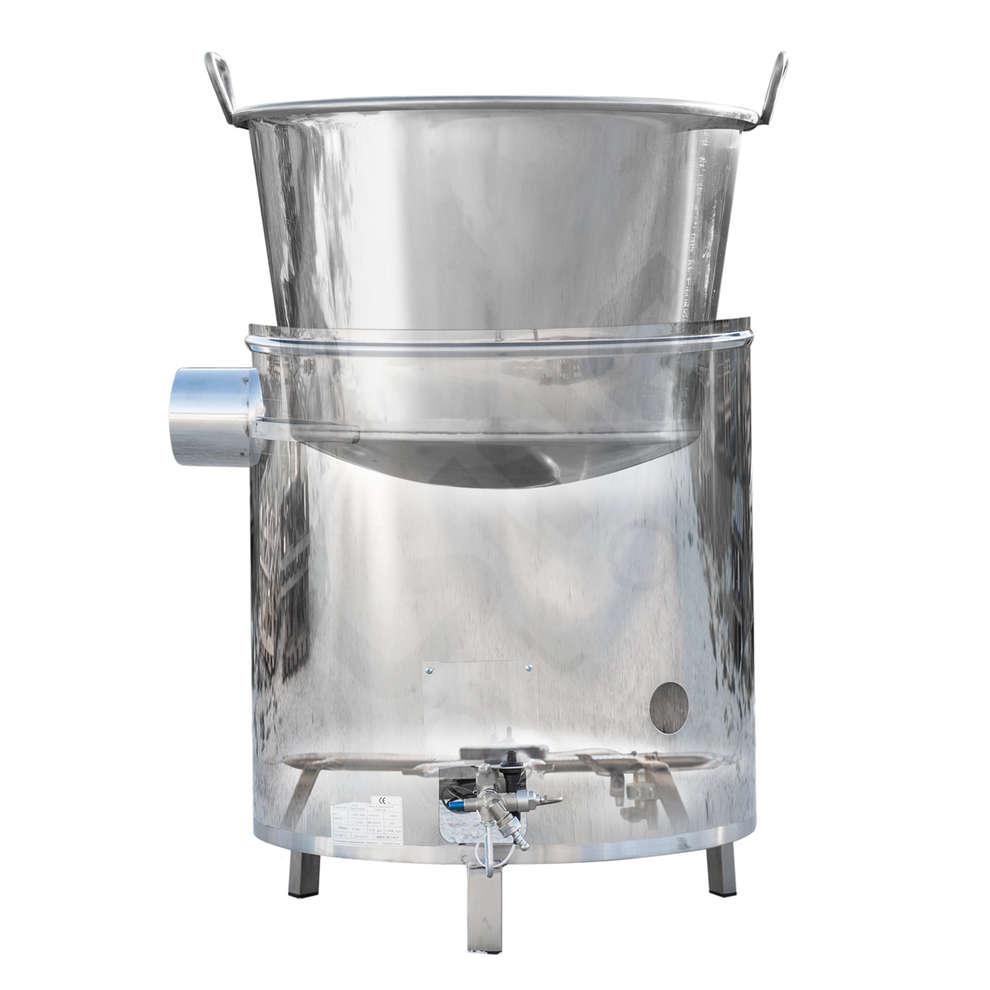 Kessel aus Edelstahl für Gas 115 L