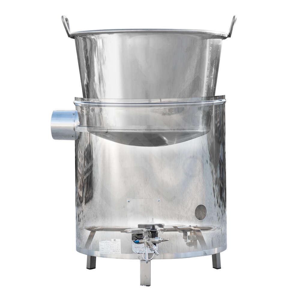 Kessel aus Edelstahl für Gas 35 L