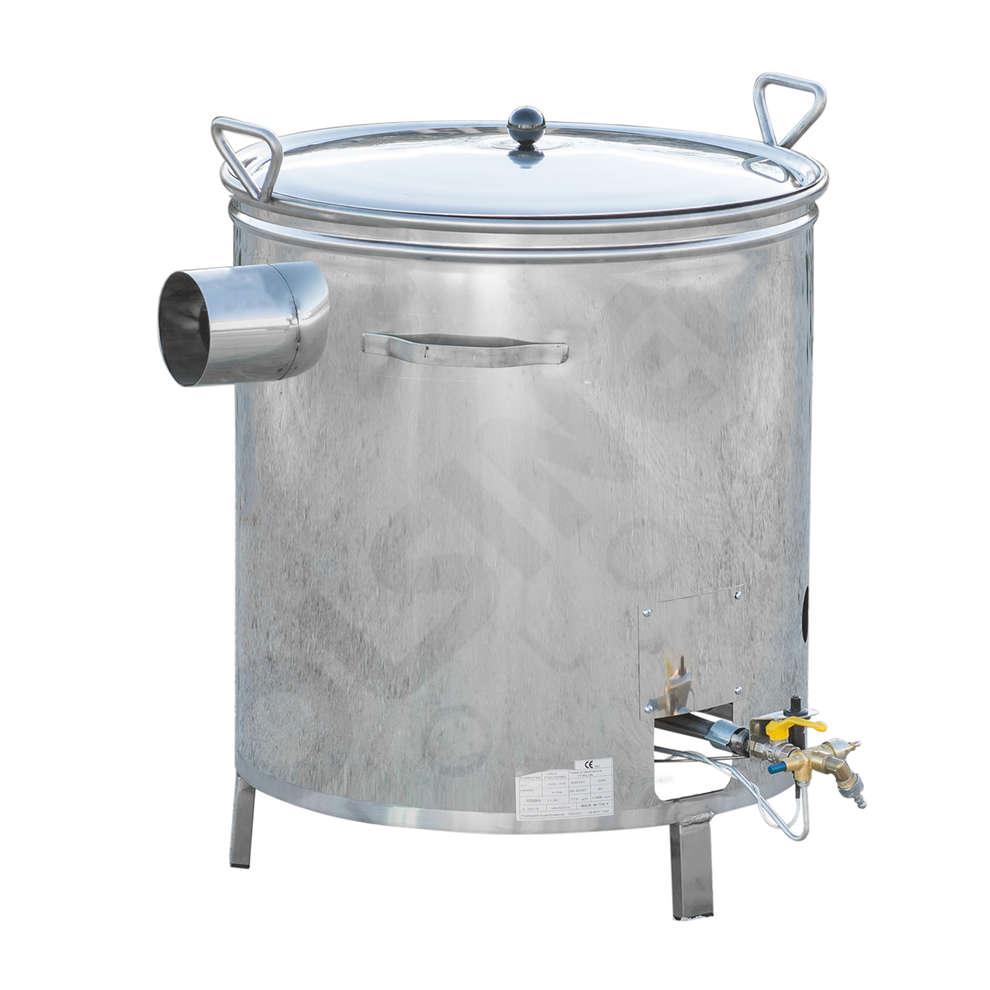 Kessel aus Edelstahl für Gas 55 L