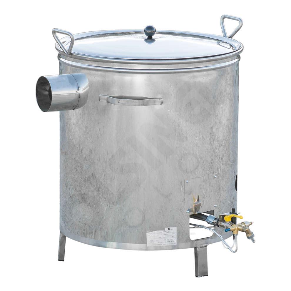 Kessel aus Edelstahl für Gas 70 L