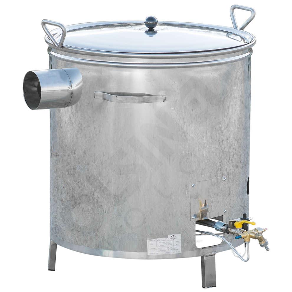 Kessel aus Edelstahl für Gas 90 L