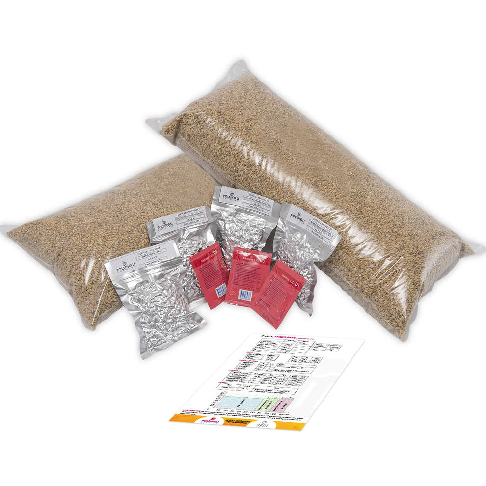 Kit  all grain Amerikaner para 50 lt - Pale Ale tedesca
