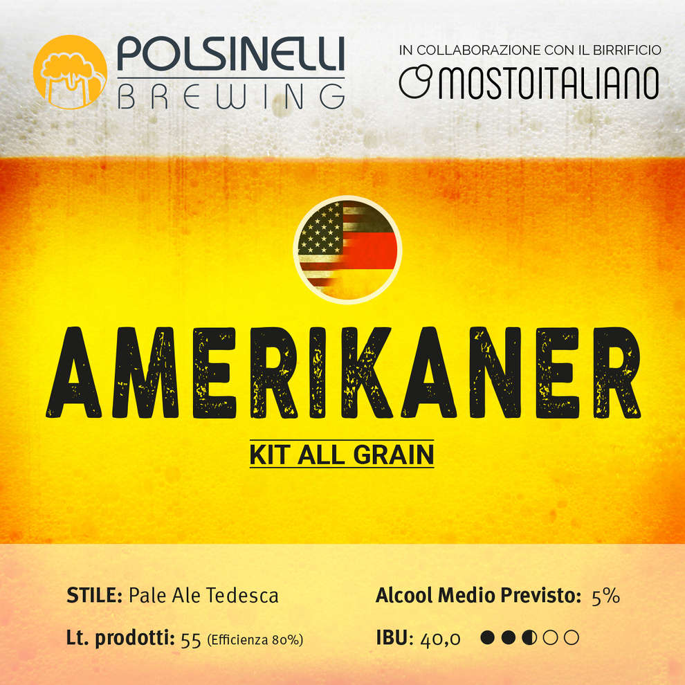 Kit  all grain Amerikaner per 55 L - Pale Ale tedesca