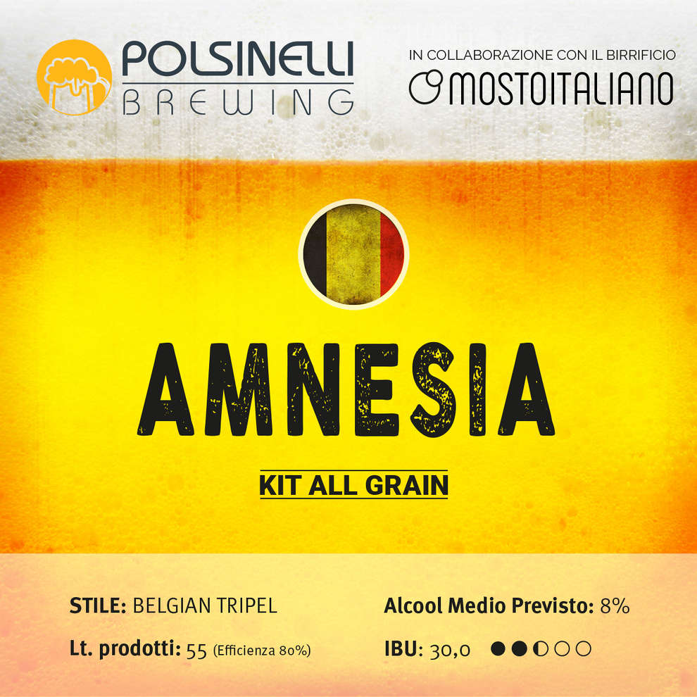 Kit all grain Amnesia per 55 L - Belgian Tripel