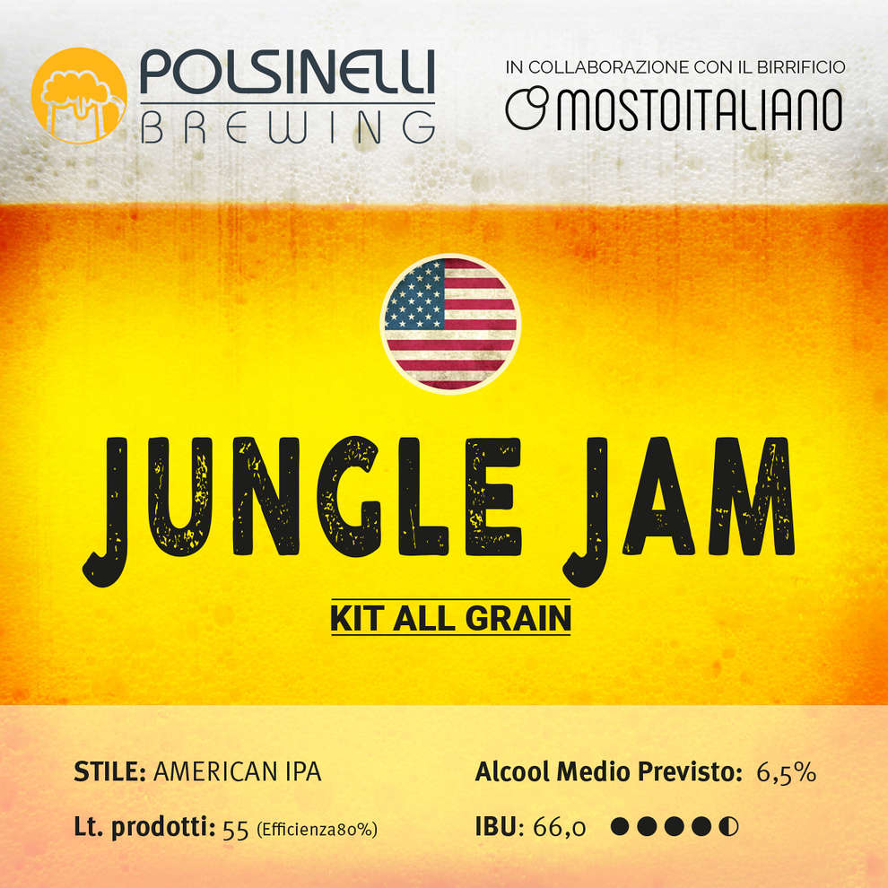 Kit all grain Jungle Jam per 55 lt - Ipa