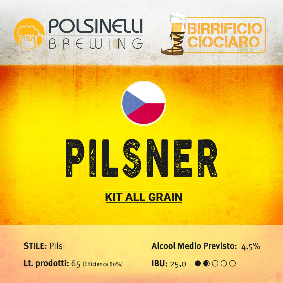 Kit all grain PILSNER pour lt. 65