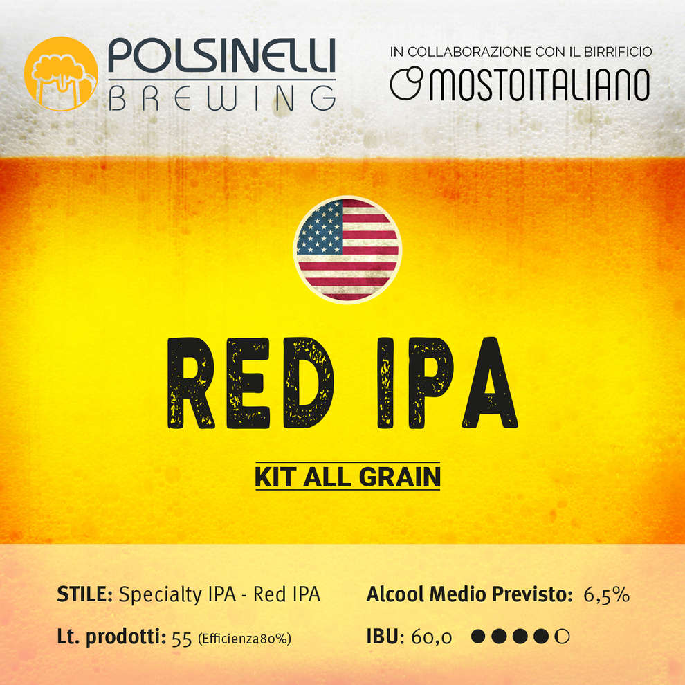 Kit all grain Red Ipa per 55 L - Specialty IPA: Red IPA