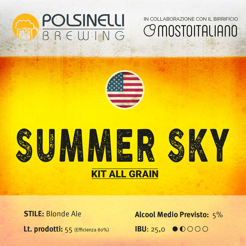 Kit  all grain Summer Sky per 55 lt - Blonde Ale