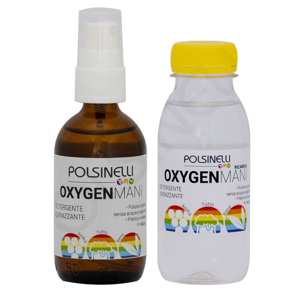 Kit Oxygen mani natural spray con Ricarica 50+250 ml