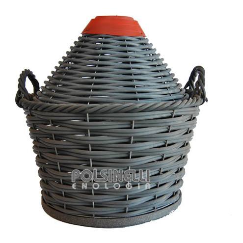 Korb geflochten für Glasballon 17 L