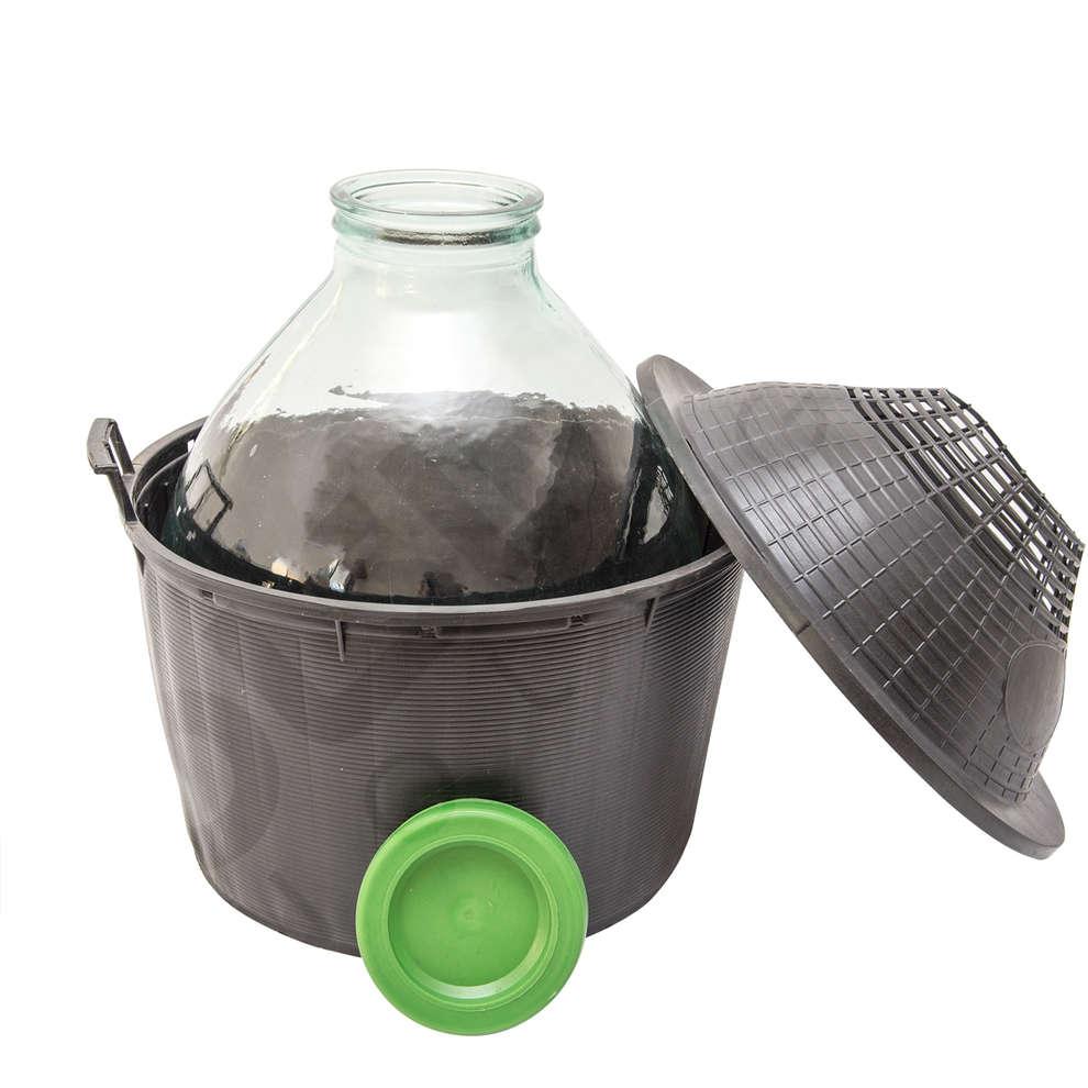 Korbflasche 34 L weiter Hals
