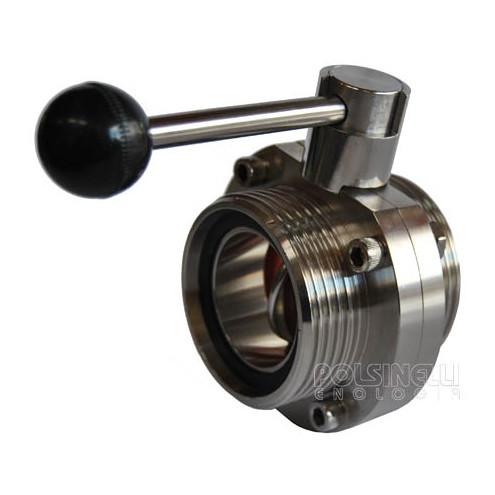 La válvula de mariposa de acero DIN 50