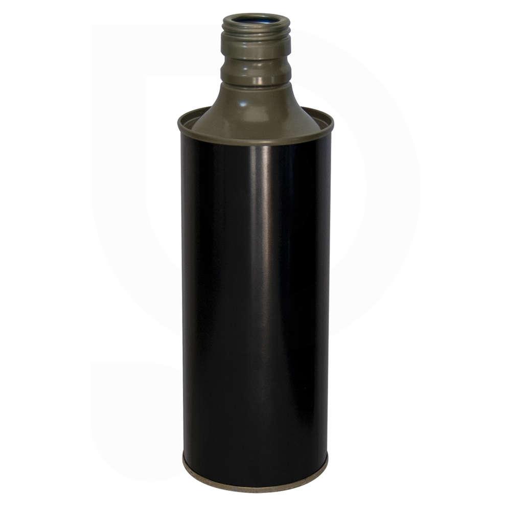 Lattina cilindrica per olio 0,50 L nero lucido (35 pz)
