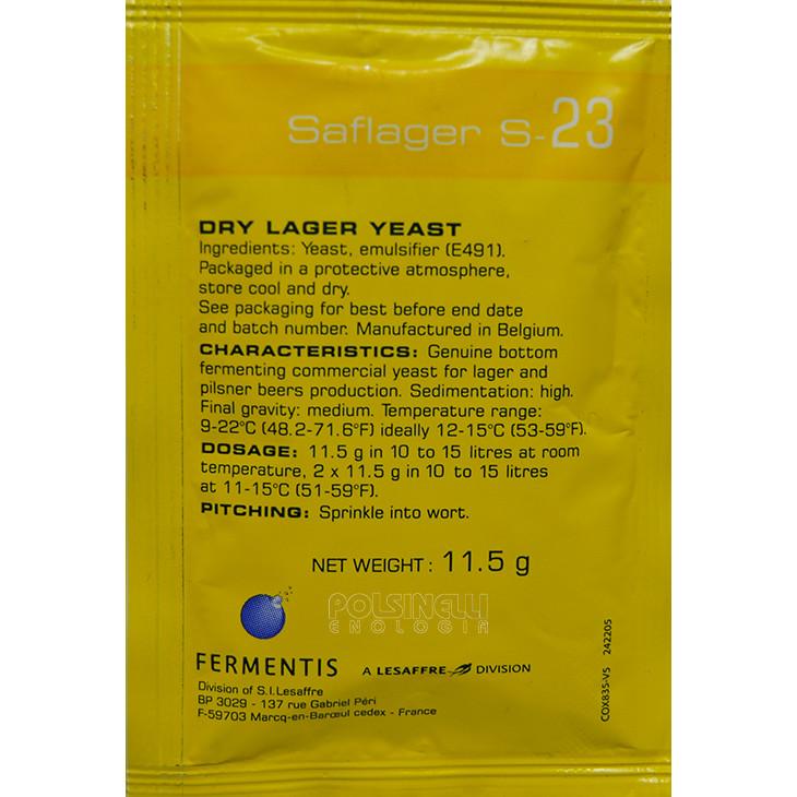 Levadura seca Fermentis Saflager S-23 (11,5 g)