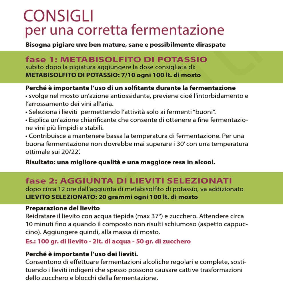 Lievito per vini aromatici Actiflore BO213 (500 g)