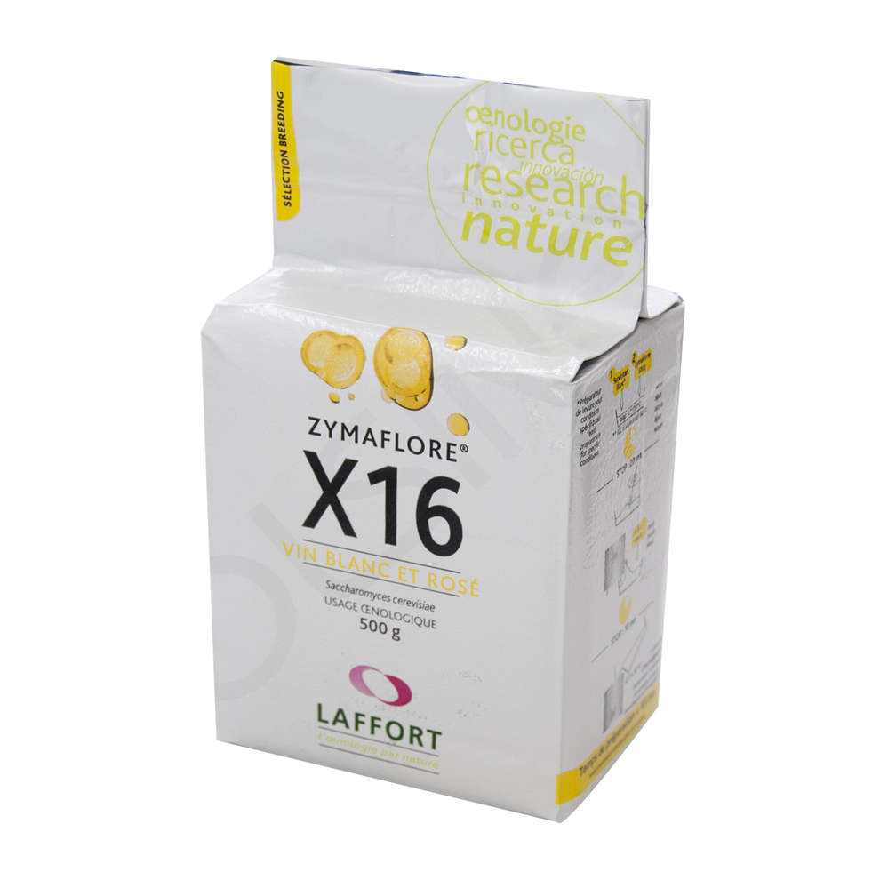 Lievito per vini bianchi e rosati Zymaflore X16 (500 g)