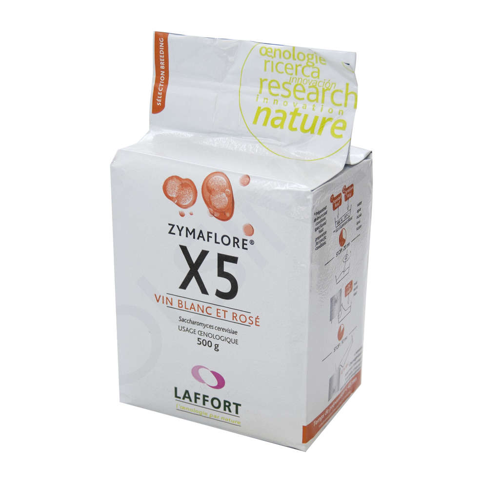 Lievito per vini bianchi e rosati Zymaflore X5 (500 g)