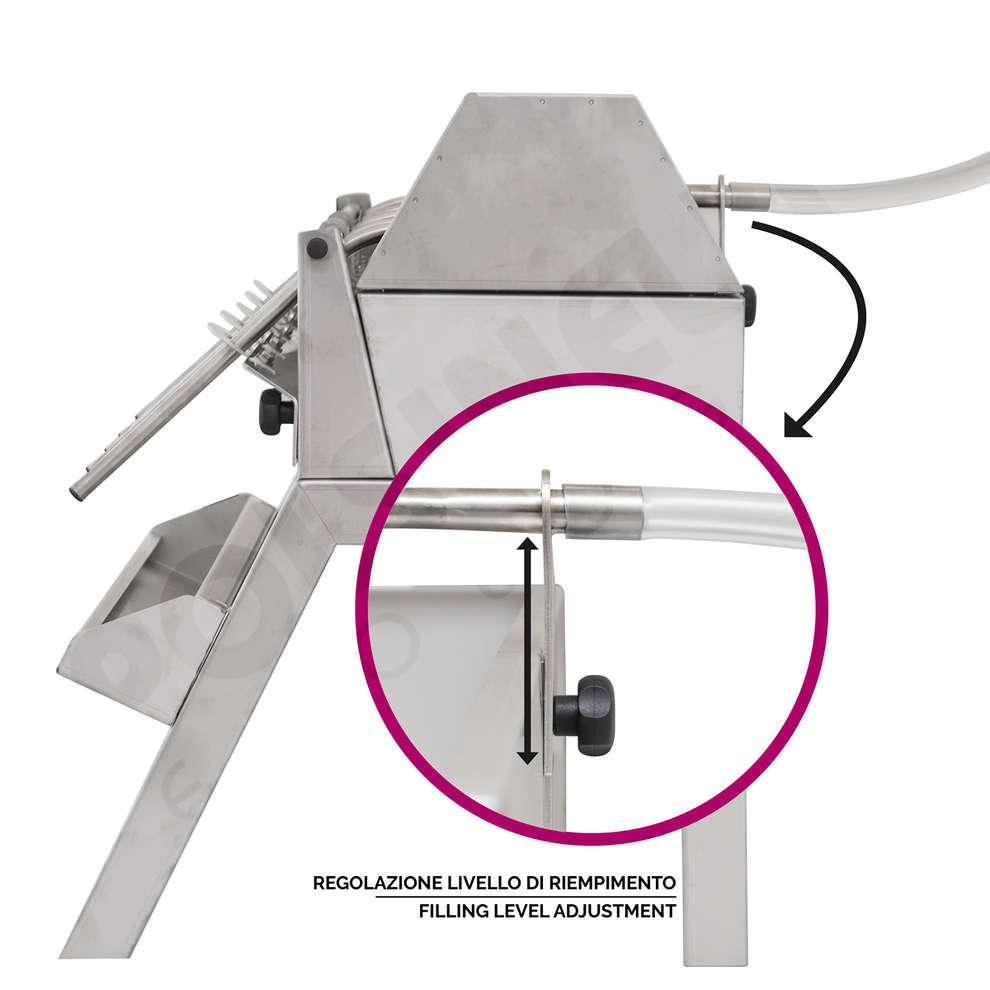 Llenadora inox con 3 sifones