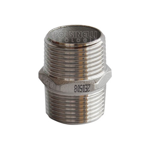 Mamelon hexagonal inox 3/4""