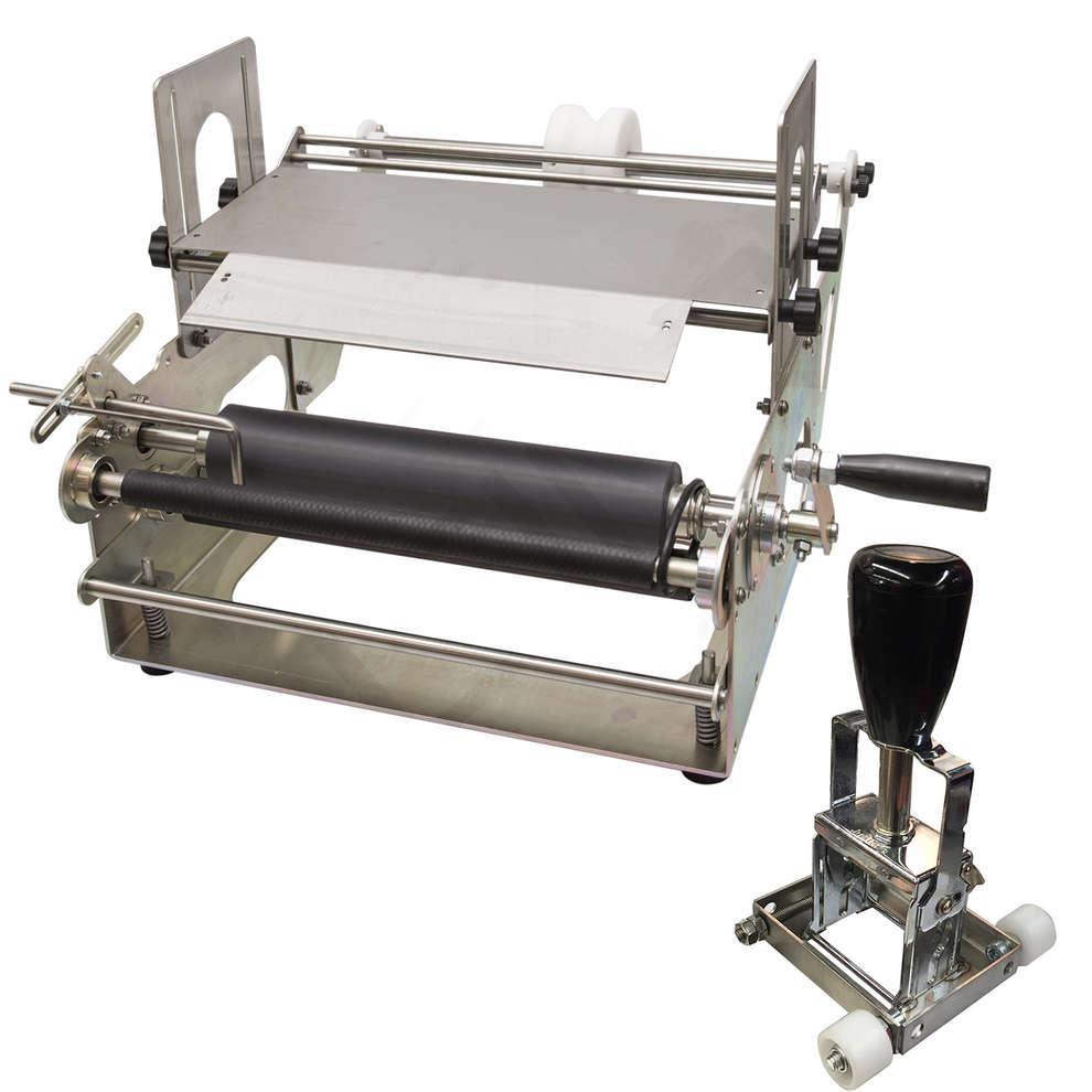 Manual labeling machine Eti 05 with batch stamper